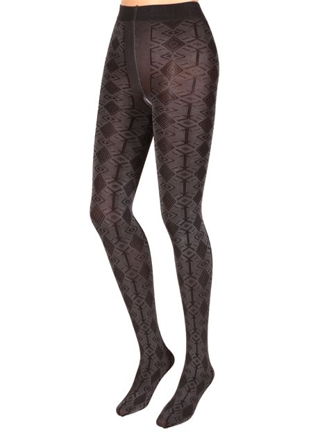 Patterned Opaque Tights | levante opaque patterned tights