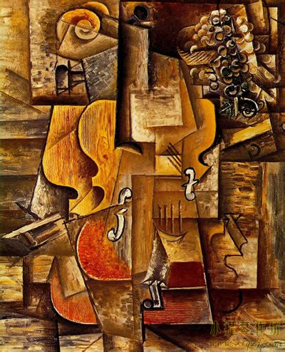 Synthetischer Kubismus Bilder 4124 by 世界著名画家毕加索绘画的小提琴作品大全 小提琴作坊