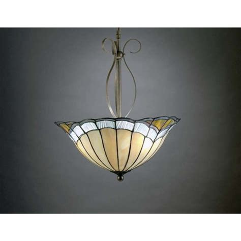 Aztec Lighting Fixtures Aztec Lighting Nouveau Style Hanging Fixture With Glass Inverted Bowl Shade Home
