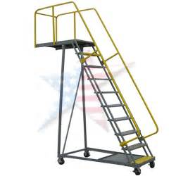 Rolling Stair by Cantilever Rolling Ladder Rolling Overhang Ladders