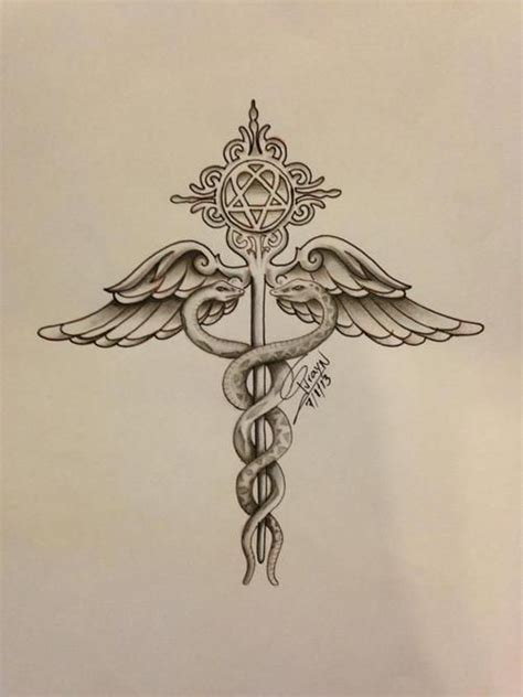 medical symbol tattoo symbol with heartagram tattoos