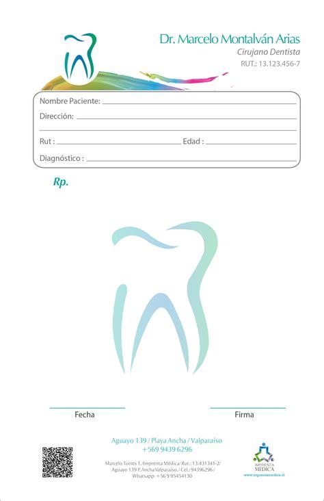 imagenes de recetas medicas para imprimir recetario dentista 016 imprenta m 233 dica