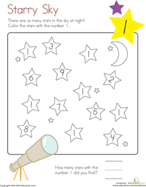 World Learners Activity Workbook 1 learning numbers number 1 worksheet education