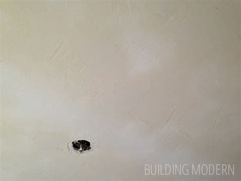 stomped to smooth skim coating a ceiling diy