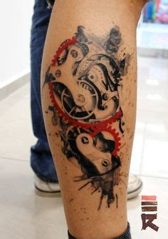 knee tattoo pain gye nyame steunk by insanemoe deviantart on