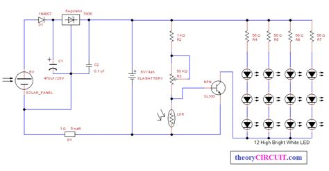 Automatic Solar Power Led Light Theorycircuit Do It Solar Led Light Circuit