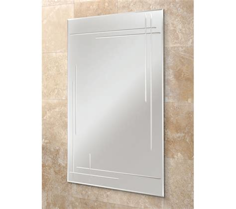 Bathroom Mirrors Qs Hib Opus Rectangular Bevelled Edge Bathroom Mirror 500 X