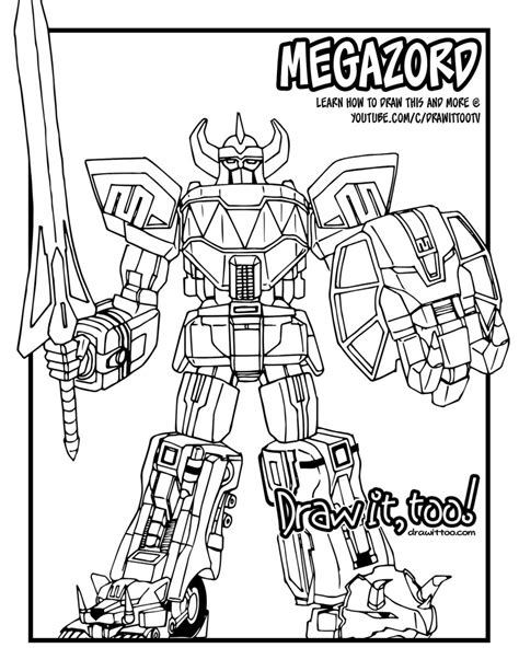 power rangers dino charge megazord coloring pages power rangers megazord coloring pages murderthestout