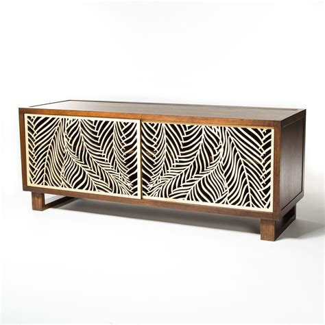 credenza table design beautiful credenza featuring intricate wispy palm laser