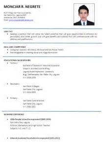 resume cv sample resume badak