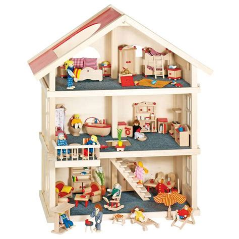casa giocattolo mobile casa delle bambole cucina goki bambini legno