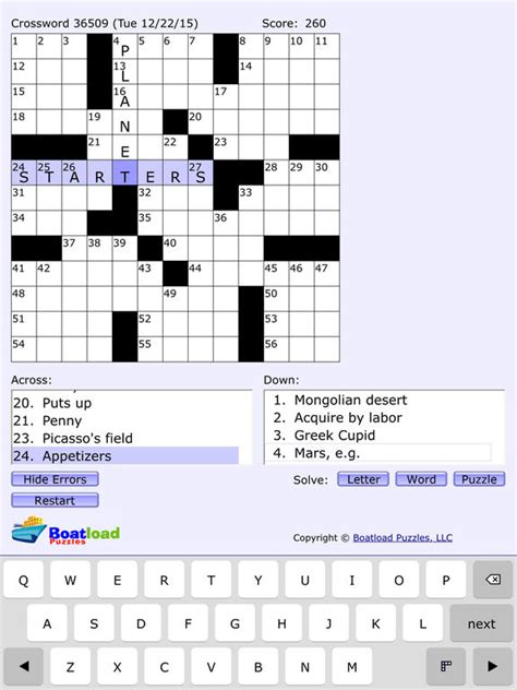 Easy Crossword Puzzles Boatload | boatload puzzles daily crosswords apppicker
