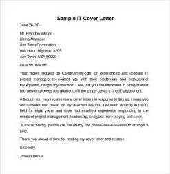 cover letter it sle information technology cover letter template 8