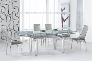 Contemporary Glass Dining Room Table Serenity Ultra Contemporary Glass And Dining Room