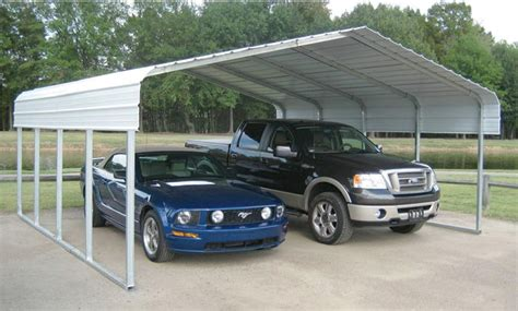 2 Car Metal Carport Versatube Steel Shelter Carport 20 Ft X 20 Ft X 7 5 Ft
