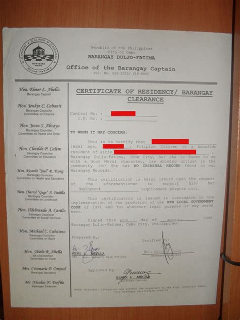 Endorsement Letter For Barangay Clearance How To Get Barangay Clearance Certificate In The Philippines Cebu Services 1179