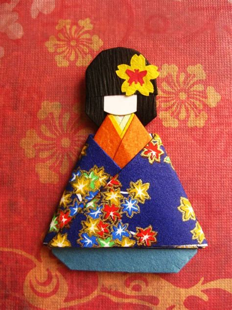 Paper Doll Origami - items similar to japanese origami paper doll momiji on etsy