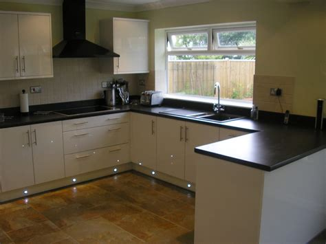 white kitchen black worktop ay installations 100 feedback kitchen fitter bathroom