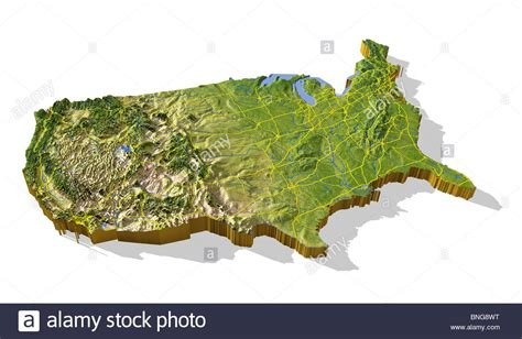 united states topographic map coterminous united states 3d relief map cut out with