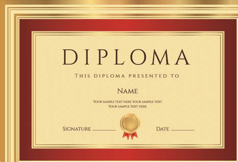templates for diplomas gold diploma cover template free vector in encapsulated