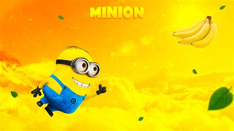 wallpaper minions banana minion banana wallpapers hd wallpapers id 15592