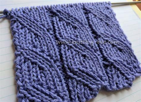yo knitting stitch ribbed diagonal lace free knitting stitch knitting bee
