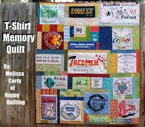 happy quilting t shirt memory quilt tutorial and giveaway