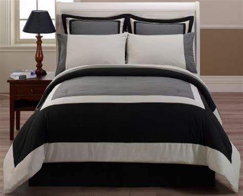 california king bed in a bag with sheet set 8 pieces black gray hotel bed in a bag comforter with