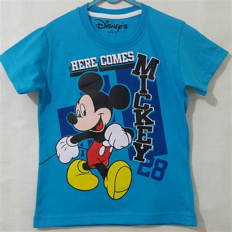 Kaos Anak Here I Am kaos anak mickey biru here come 28 1 6 grosir eceran