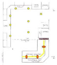 l shaped kitchen lighting plan interior exterior doors