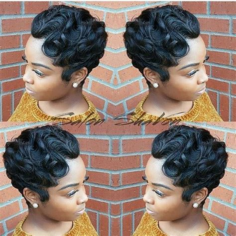 black hairstyles ocean waves fat women hairstyles plus size pixies finger waves and