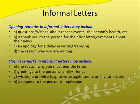 Closing Letter Comments Agenda Types Of Letters Layout Of Letters Writing Style In Letters Ppt