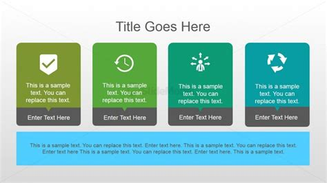 powerpoint template color scheme 4 elements horizontal slide layout design slidemodel
