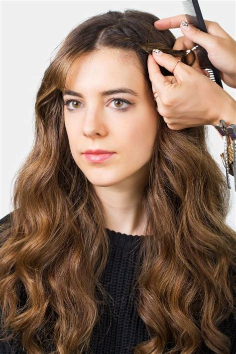 are bangs out of style braided waves style bangs and center part on pinterest