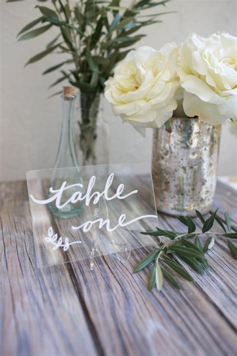 acrylic table numbers wedding acrylic plexiglass table numbers or names size 4 x 6