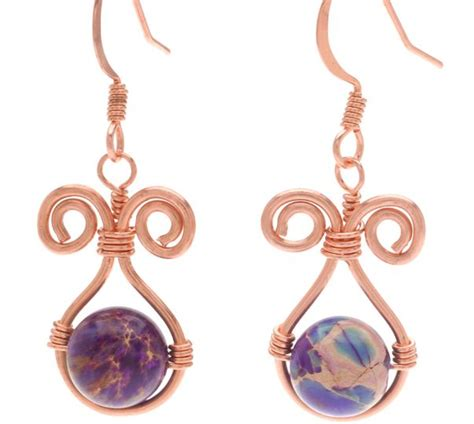 how to make ear wrap jewelry more wire wrapped earrings tutorials the beading gem s