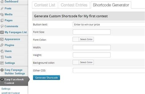 Facebook Giveaway Generator - 5 giveaway plugins tools for holding wordpress contests wp solver