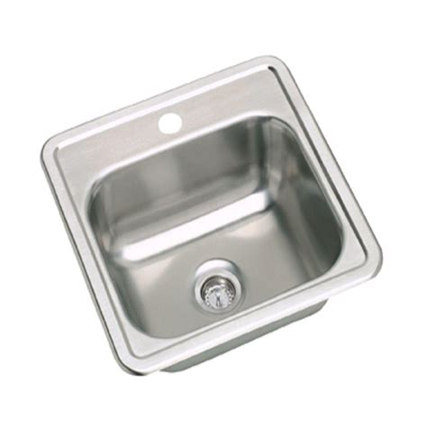 dayton stainless steel sinks elkay dayton drop in stainless steel 15 in 1 hole bar