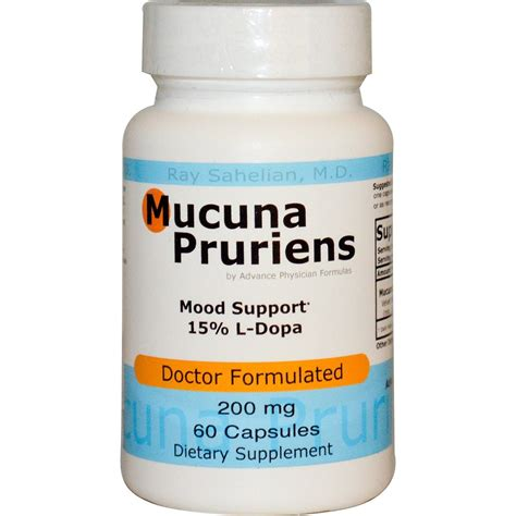 supplement l dopa mucuna pruiens extract 200 mg 60 capsules l dopa