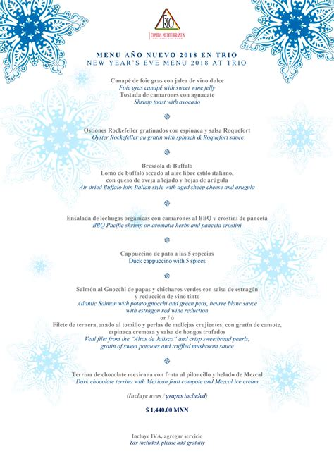 new year restaurant menu 2018 where to dine on new year s 2018 in vallarta