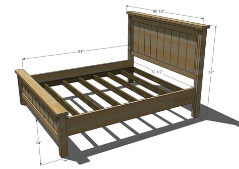 woodwork bed plans king size  plans