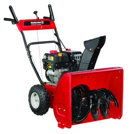 yard machines   stage snow blower  electric start walmartcom