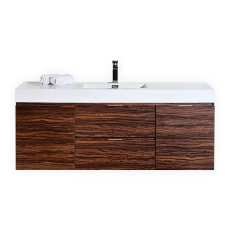 Modern Bathroom Vanity 60 Inch 60 Inch Wall Mount Single Sink Modern Bathroom Vanity