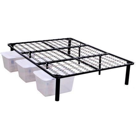 steel platform bed frame walmart