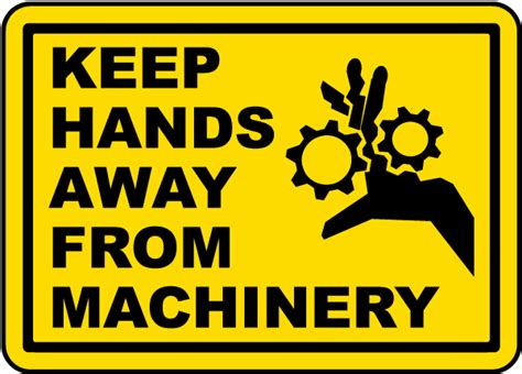 9 Things To Keep Away From Your by Keep Away Machinery Label J5003 By Safetysign
