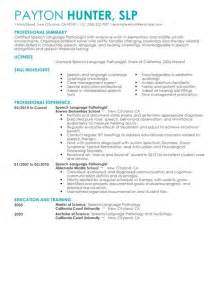 speech pathology cover letter best speech language pathologist resume exle livecareer
