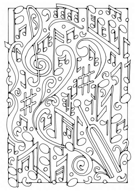 color pattern song coloring page music img 19565