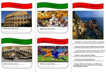 Country Brochure Template country brochure editable research templates option tpt