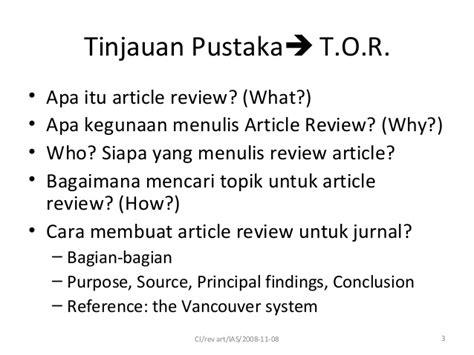 cara membuat daftar pustaka vancouver review artikel tinjauan pustaka