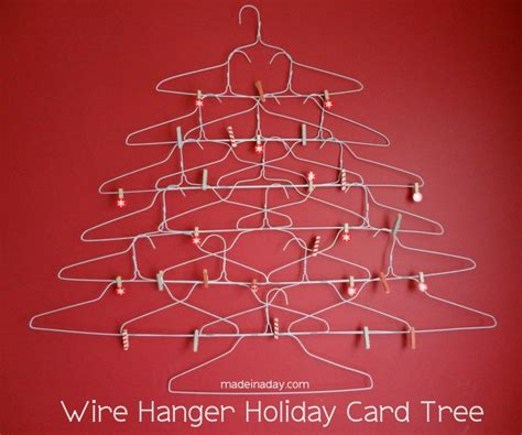 how to make a wire hanger christmas tree wire hanger card holder 187 made in a day